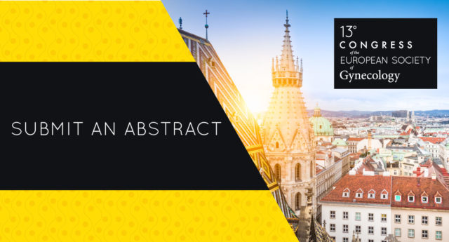 Call for abstract ESG congress 2019