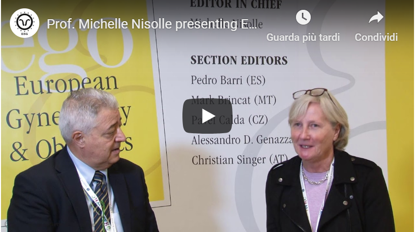 Prof. Michelle Nisolle presenting EGO Journal at the 13th ESG Congress